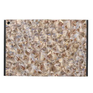 Golden Elegance Crystals Decor iPad Air Cover