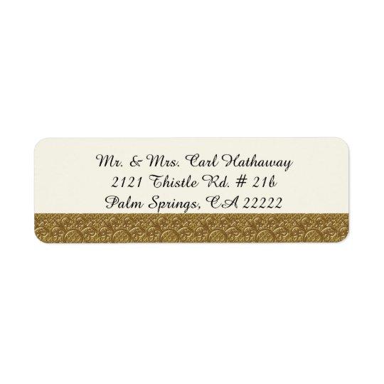 Golden Elegance Custom Return Address Label