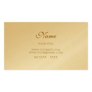 Golden Elegant Modern and Pack Of Standard Business Cards