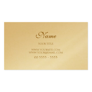 Golden Elegant Modern and Pack Of Standard Business Cards
