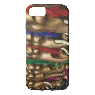 Golden elephants decorated with colorful iPhone 8/7 case