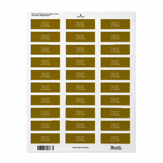 Golden Elm Address Labels