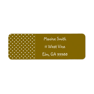 Golden Elm Polka Dot Custom Template Return Address Label
