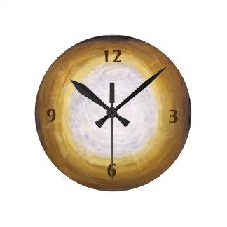 Golden Evening Glow Medium Clock