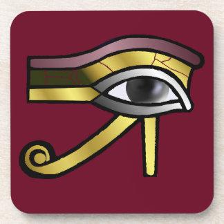 Golden Eye of Horus Cork Coaster