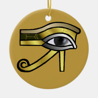 Golden Eye of Horus Decoration Round Ceramic Decoration