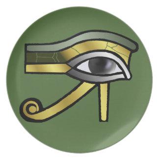 Golden Eye of Horus Dinner Plate