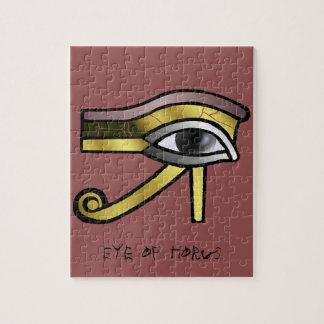 Golden Eye of Horus Jigsaw Puzzle