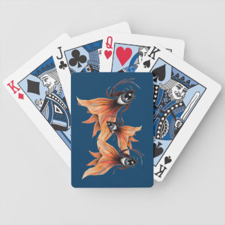 Golden Eye Surreal Goldfish Fantasy Art Any Color Bicycle Playing Cards