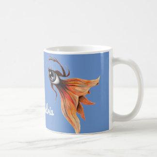 Golden Eye Surreal Goldfish Fantasy Art Any Color Coffee Mug