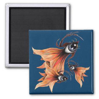 Golden Eye Surreal Goldfish Fantasy Art Any Color Magnet