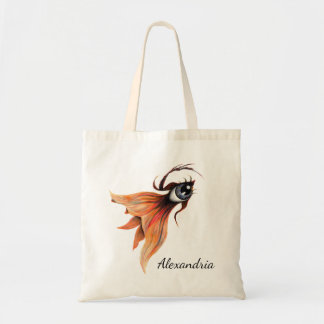 Golden Eye Surreal Goldfish Fantasy Art Custom Tote Bag