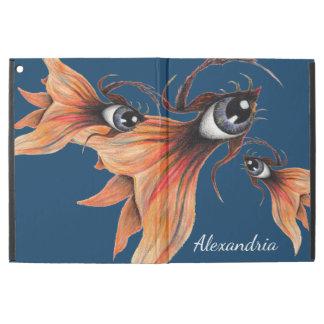 """Golden Eye Surreal Goldfish Fantasy Art Your Name iPad Pro 12.9"""" Case"""