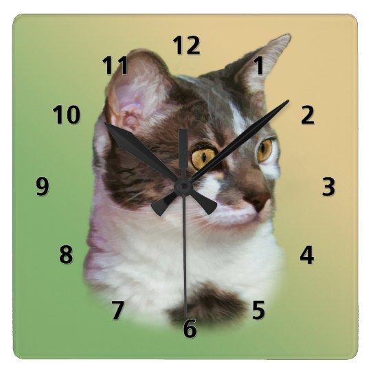 Golden-eyed Cat Clock