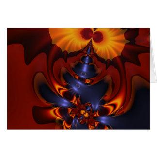 Golden Eyes – Amethyst & Amber Enchantment Greeting Card
