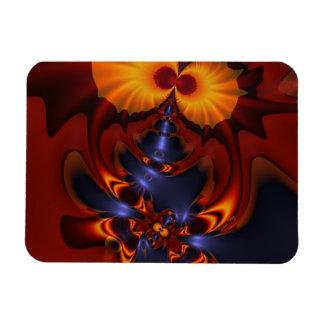 Golden Eyes – Amethyst & Amber Enchantment Rectangle Magnet