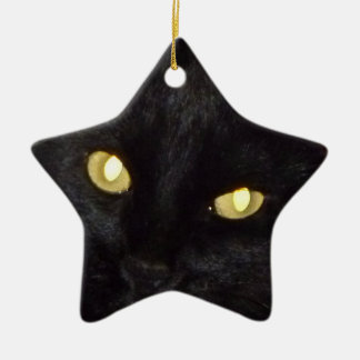 Golden eyes christmas ornament