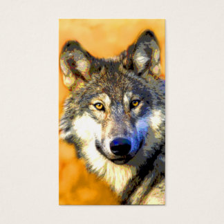 Golden Eyes (Wolf) Business Cards