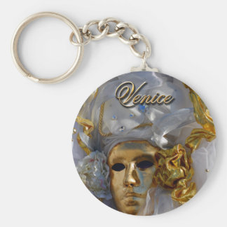 Golden Face Basic Round Button Key Ring