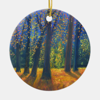 Golden Fall Christmas Ornament