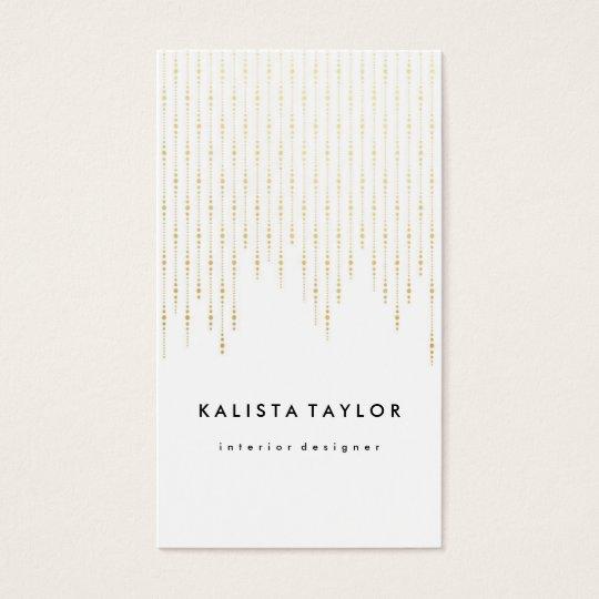 Golden fall confetti business card