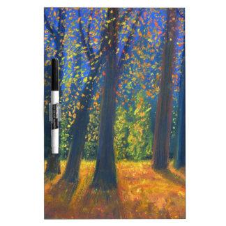 Golden Fall Dry Erase Board