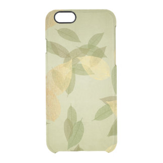 Golden Fall Mint Green iPhone Clearly™ Deflector Clear iPhone 6/6S Case