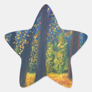 Golden Fall Star Sticker
