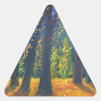 Golden Fall Triangle Sticker