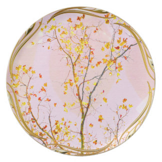 Golden Family Tree Melamine Plate