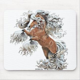 golden fantasy horse mousepad