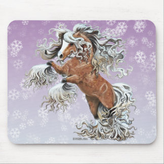 Golden Fantasy Horse Mouse Pad