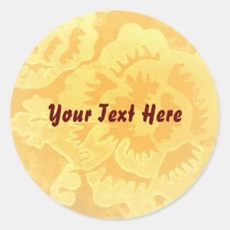 """""""Golden Fantsy"""" Sticker template"""
