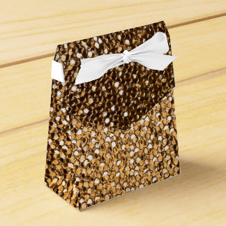 Golden favor box favour box