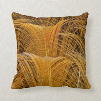 Golden Feather Abstract Cushion