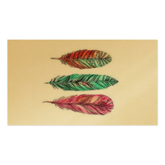 Golden Feather Pack Of Standard Business Cards