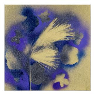 Golden Fern with Purple Flowers