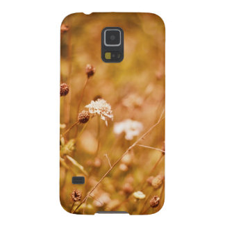 Golden field and wildflowers case for galaxy s5