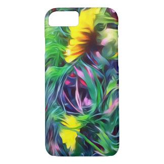 Golden Field Flowers Phone Case