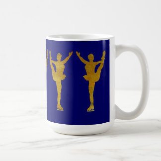Golden Figure Skaters Spinning Coffee Mugs