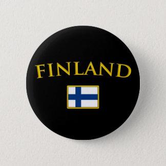 Golden Finland 6 Cm Round Badge