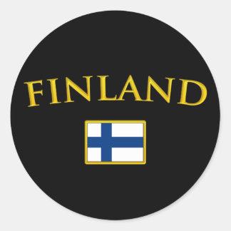 Golden Finland Classic Round Sticker