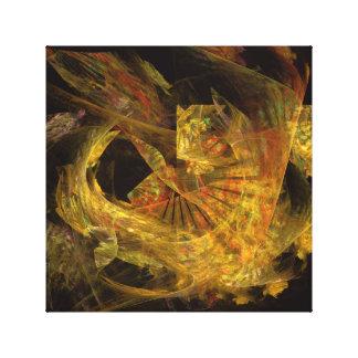 Golden Fire Original Digital Art Canvas Print