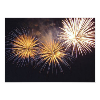 Golden Fireworks 13 Cm X 18 Cm Invitation Card
