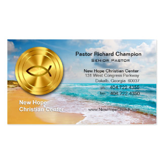 Golden Fish Beach Christian Minister/Pastor Business Card Templates