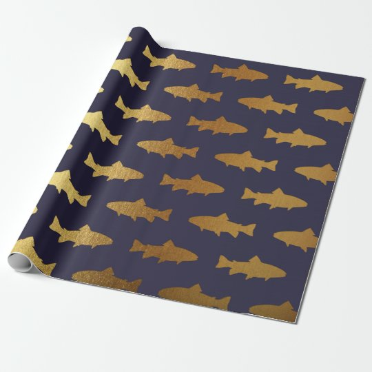Golden Fish Shark Ocean Sea Blue Navy Vip