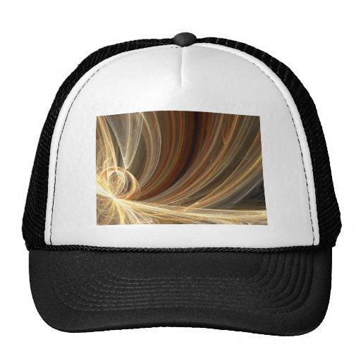 Golden Flair Bright Blast Starburst Design Trucker Hats