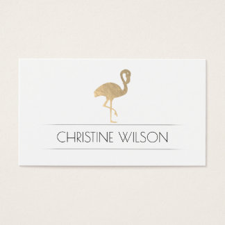 golden flamingo business card