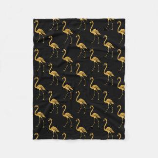 Golden Flamingos TP Fleece Blanket