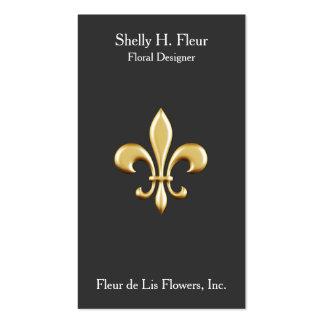 Golden Fleur De Lis Business Cards